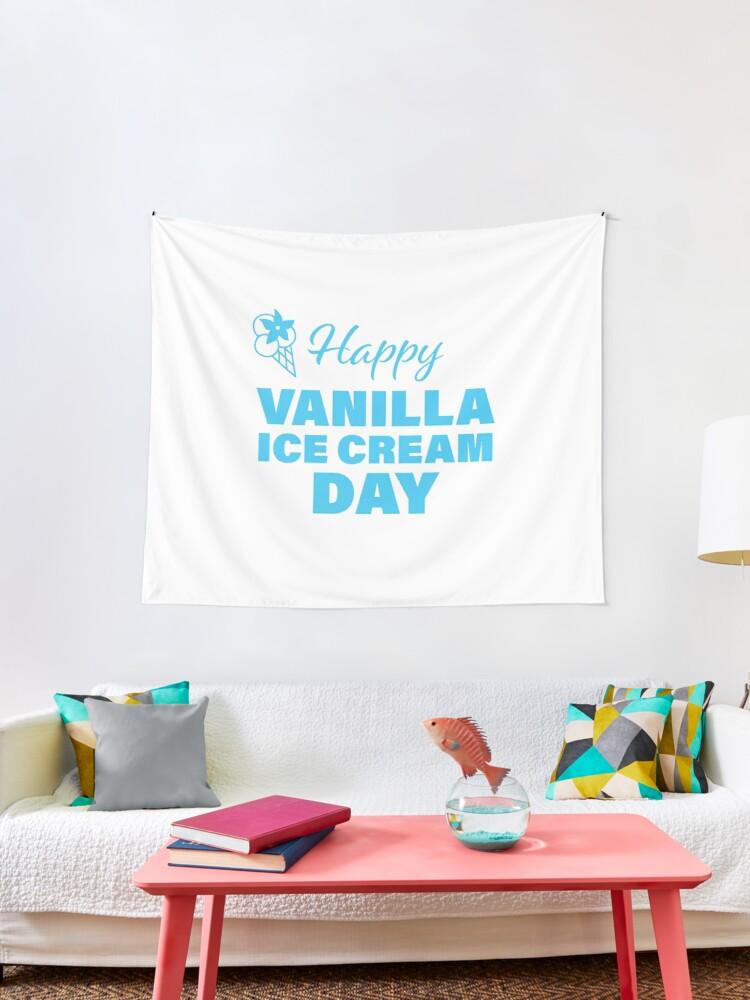 Vanilla Ice Cream Day (Tapestry - Blue)